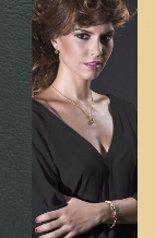 SET RUBI :: EARRINGS, BRACELET & NECKLACE